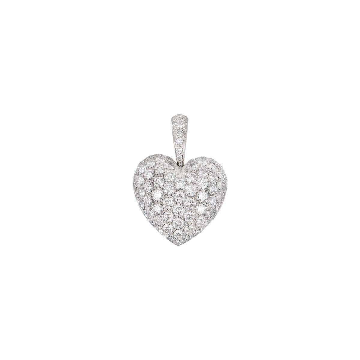White Gold Diamond Heart Pendant